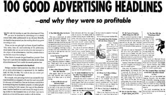 100 Ways to Write a Profitable Advertising Headline, As Learned From 44 Years In the Direct Response Trenches …